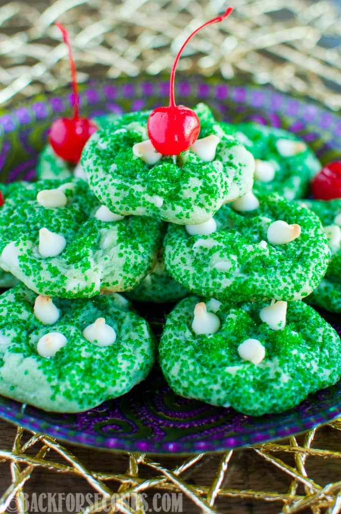 Shamrock Shake Cookies taste just like the popular milkshake, but you can eat these year round! These cool, minty, soft, and chewy cookies are winners!