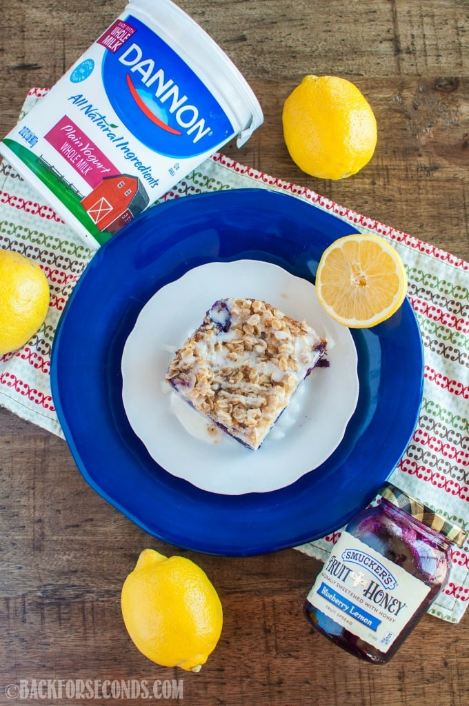This Lemon Blueberry Coffee Cake with streusel topping and lemon glaze is absolutely delectable! Perfect for Easter or holiday brunch, or an afternoon snack