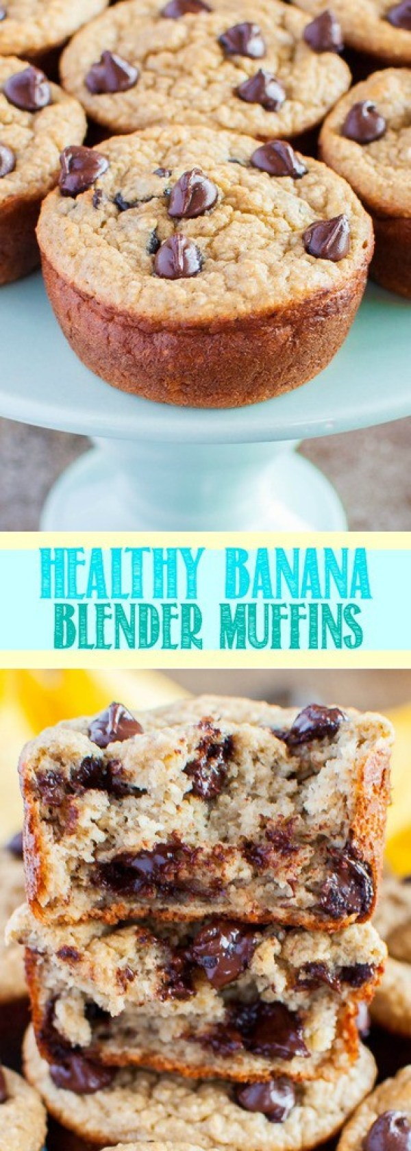 These Healthy Banana Blender Muffins are quick and easy to make. They are kid friendly and completely delicious! A wonderful guilt free breakfast or snack!