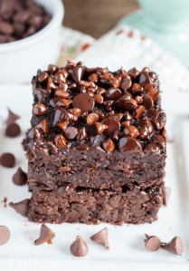 Healthy Double Chocolate Brownie Bars