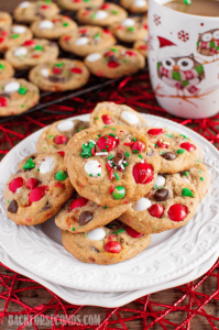 Peppermint M&M Christmas Cookies