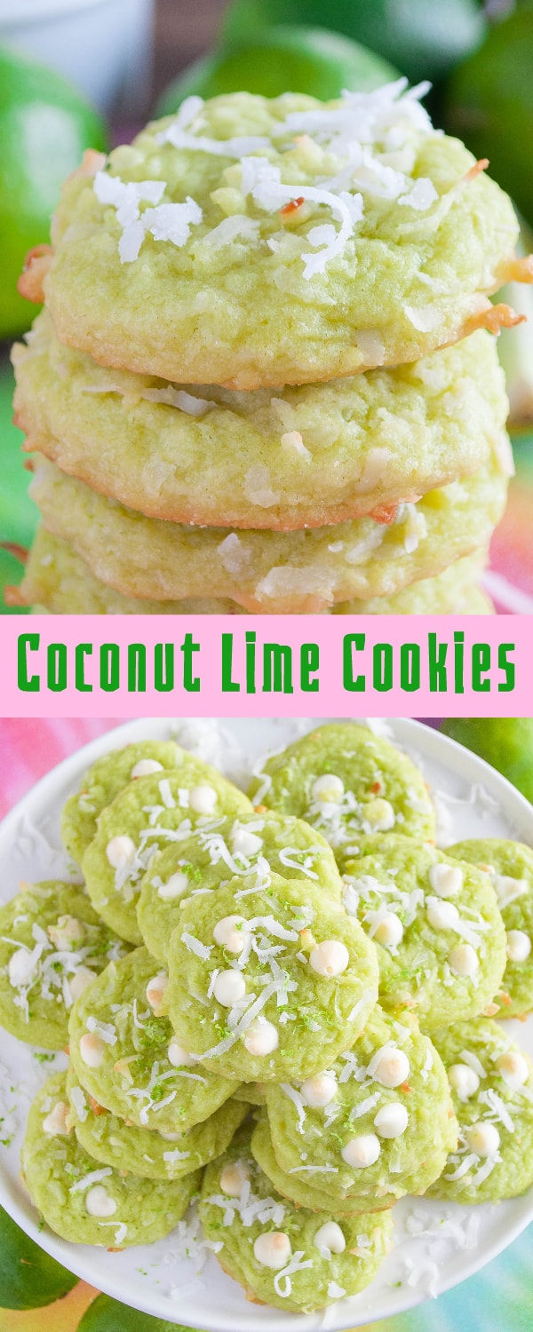 Coconut Lime Cookies collage photo