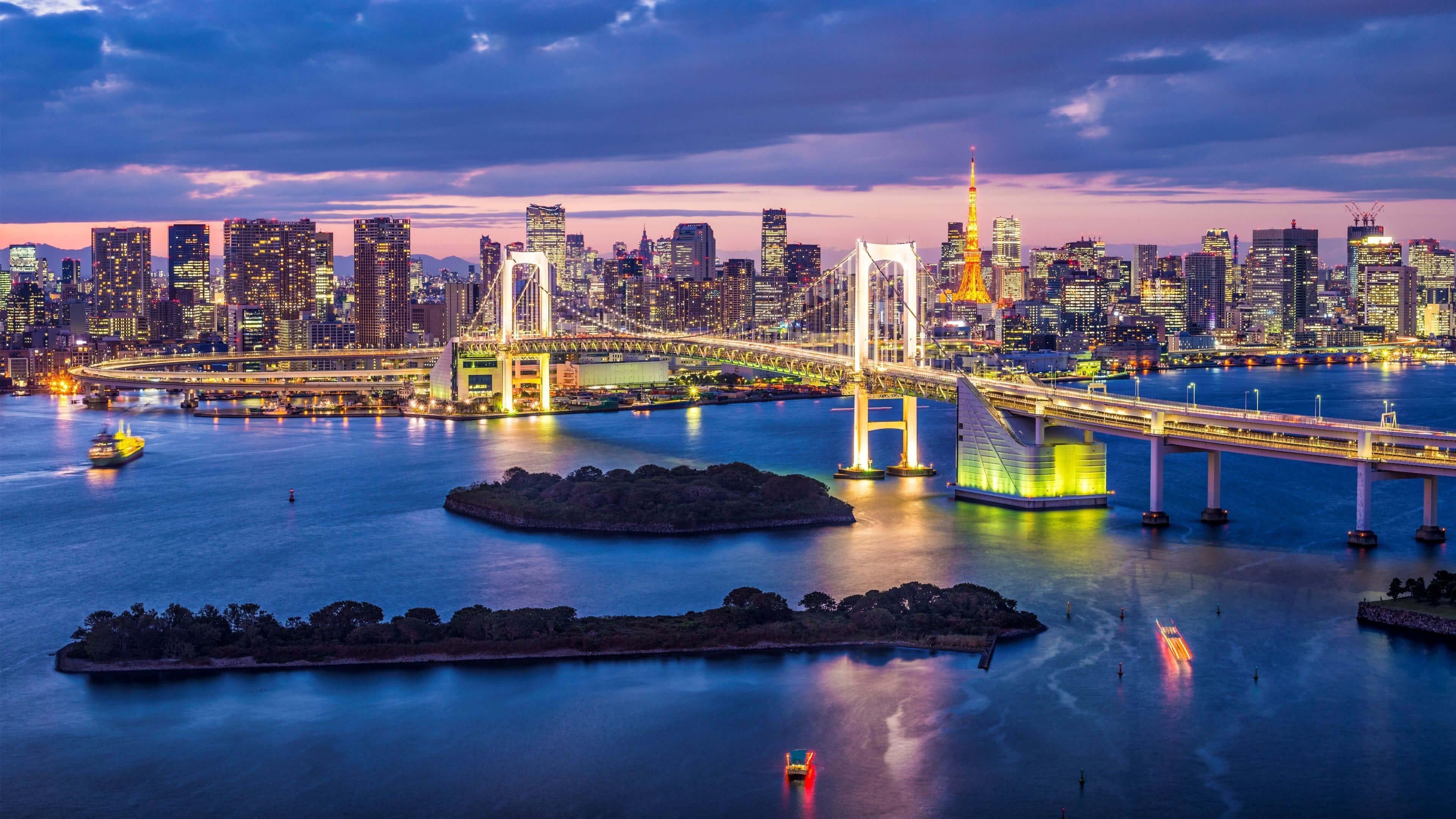 Rainbow Bridge Tokyo 4k Ultrahd Wallpaper