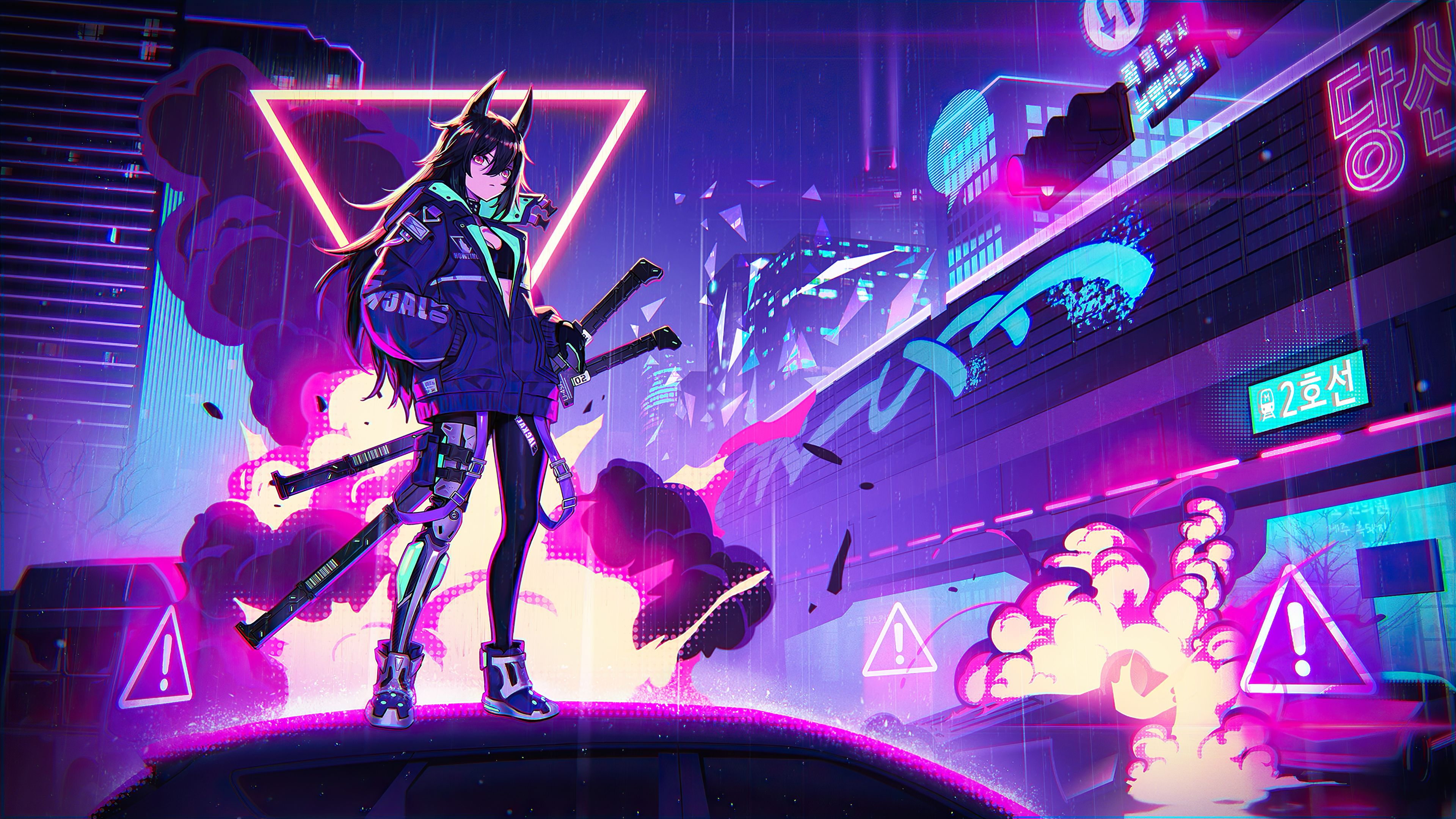 We earn a commission for products purchased through some links in this article. Neon anime girl wallpaper - backiee