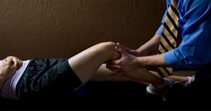 Ankle, wrist, knee chiropractic adjustments
