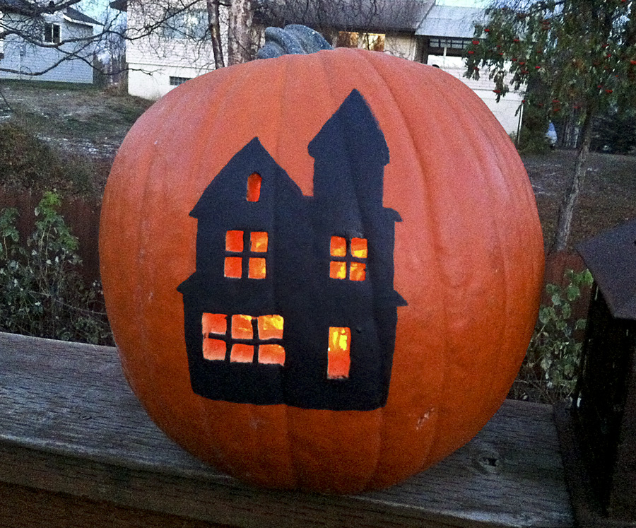 Painted Pumpkin (Haunted House Edition)