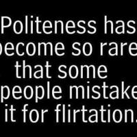 Flirting...