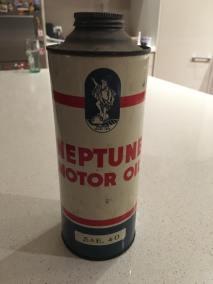 Neptune oil tin