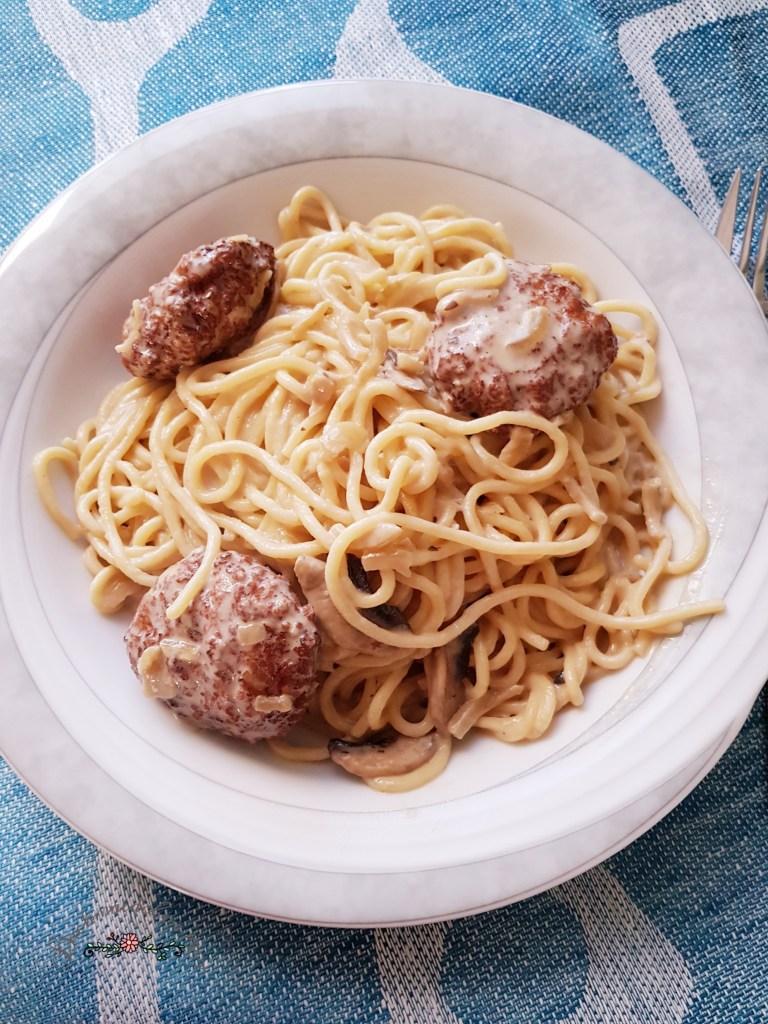 Spaghetti Pilze Sosse