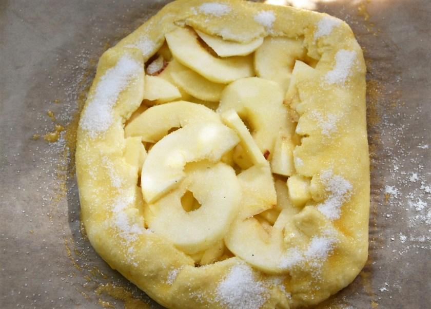 Galette mit Äpfeln