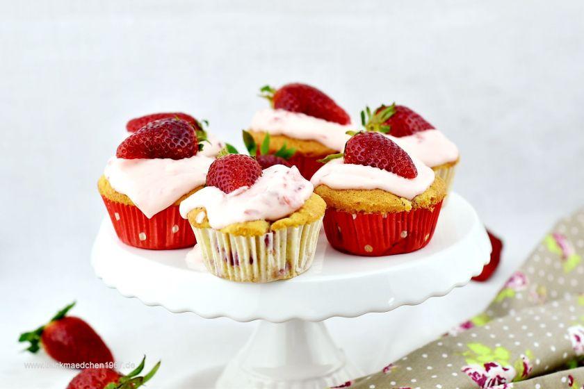 cupcakes erdbeeren