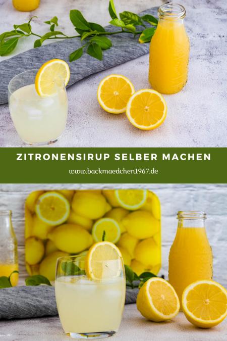 Zitronen Sirup selber machen