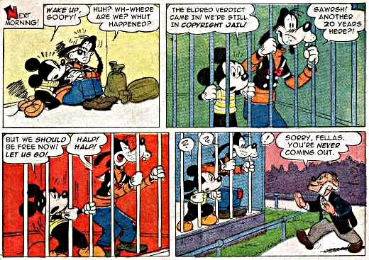 Mickey and Goofy in Copyright Jail