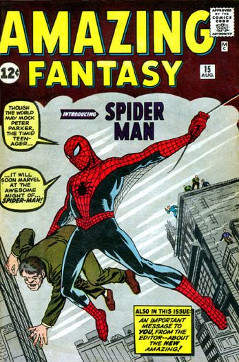 Image: Spider-Man on cover of Amazing Fantasy Number 15