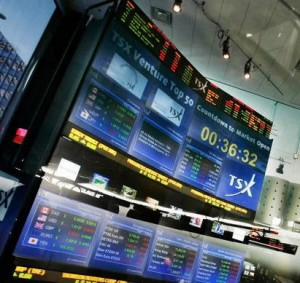 Image: High-tech TSX trading board