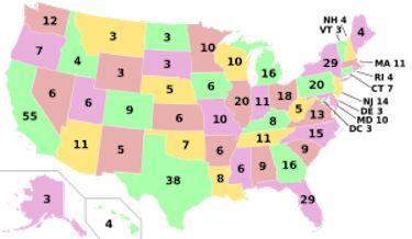 Image: US electoral map