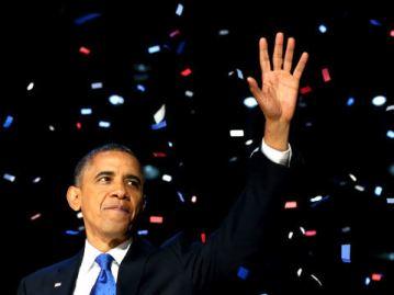 Obama at victory speech 2012