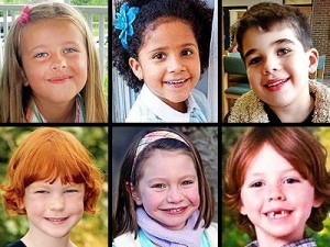 Collage of six children killed in Newtown