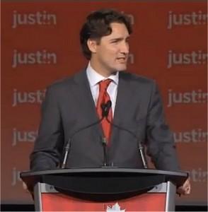 Justin Trudeau accepts Liberal leadership
