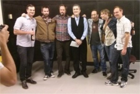 Comics backstage at Canadian Comedy Awards 2013