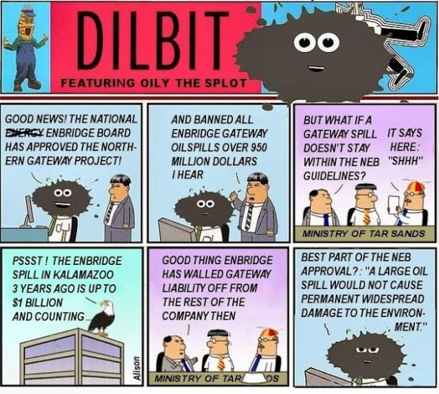 Northern Gateway pipeline comic