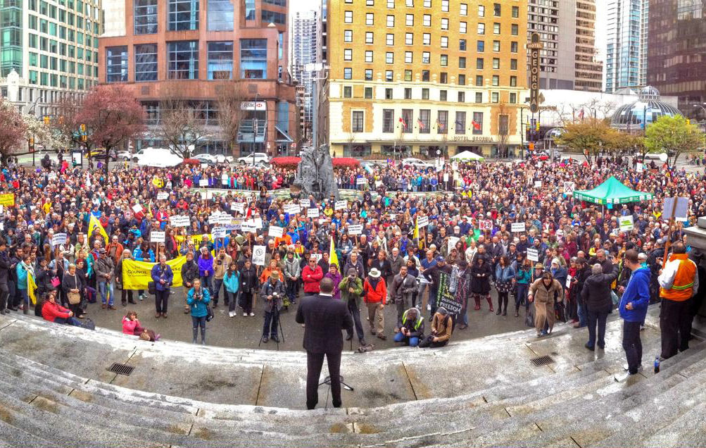 Bill C-51 protest in Vancouver