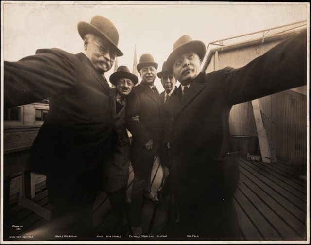 Vintage selfie: Point-of-view shot from camera