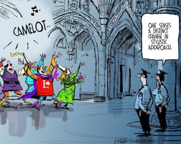 Cartoon: Liberals as Camelot
