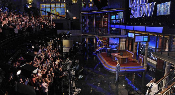 Stephen Colbert on Late Night set