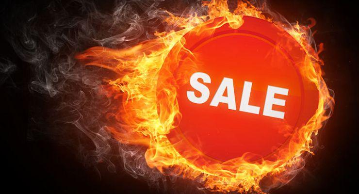 Fire sale sign