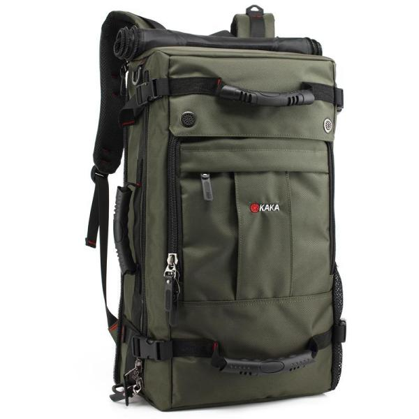 Outdoor large capacity Men backpack with lock Backpack Green