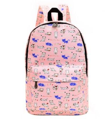 Casual men's and women's Canvas backpack Backpack 6