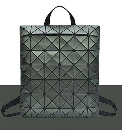 Magic color geometric square rhombic backpack Backpack Gray green
