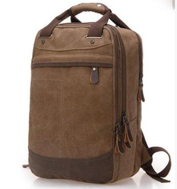 College wind canvas Student backpack Backpack Brown