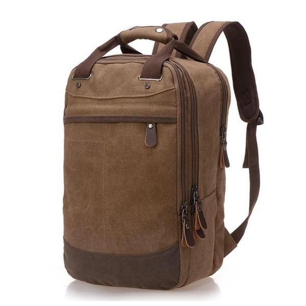 Casual Canvas Men stylish Backpack Backpack coffee