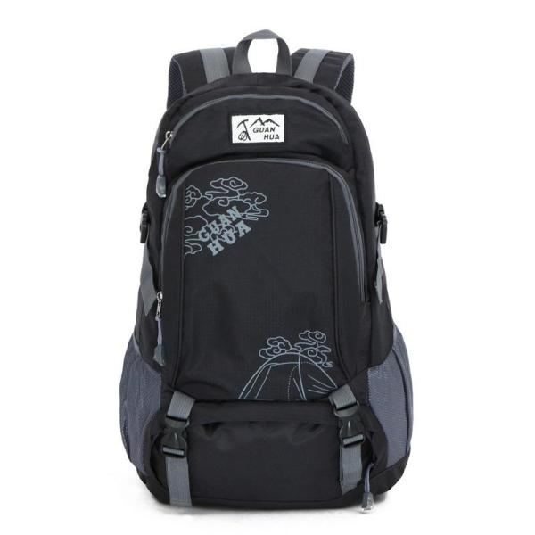 Large capacity outdoor leisure Sports backpack Backpack Black