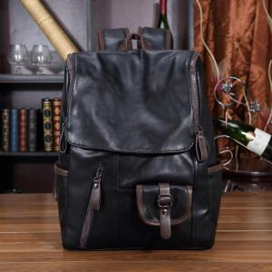 Casual stylish Large Capacity Men backpack Backpack Black