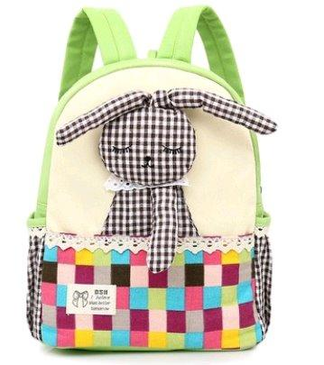 Lovely Satchel Backpack for children mochilas escolares infants Backpack Light green