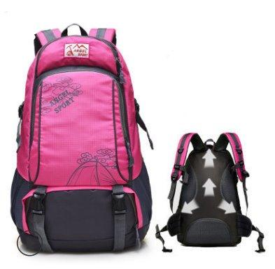 Large capacity outdoor leisure Sports backpack Backpack Rose red