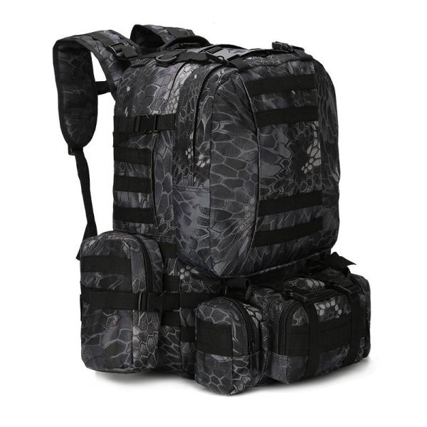 Outdoor Camouflage Tactical Travel Bacpack Backpack Black Pythons