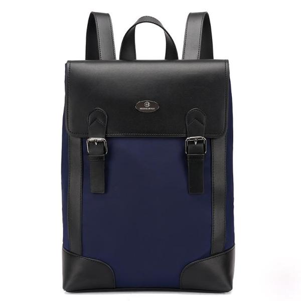 Oxford cloth men fashion large capacity backpack Backpack Blue