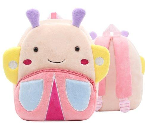 Children small school animal backpack Backpack Butterfly