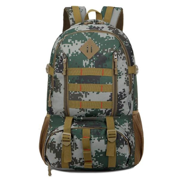 Outdoor mountaineering Travel backpack camouflage Backpack Army Green Camouflage