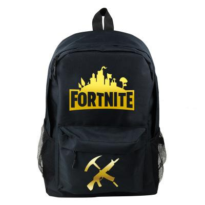 Game style juvenile casual School backpack Backpack Black A