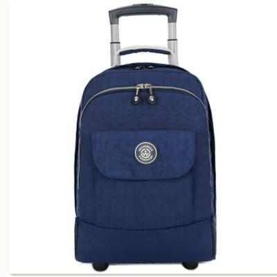 17 inch Rolling Luggage Backpack Carry on Duffle Bag Backpack Tibetan blue