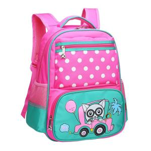 Children's school backpack boys and girls, 1-3-4-6 grade Backpack Pink