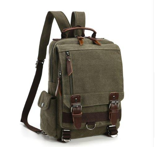 Fashion canvas business Men backpack Backpack ArmyGreen