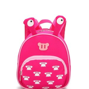 Cute boy girl cartoon Small backpack Backpack Pink