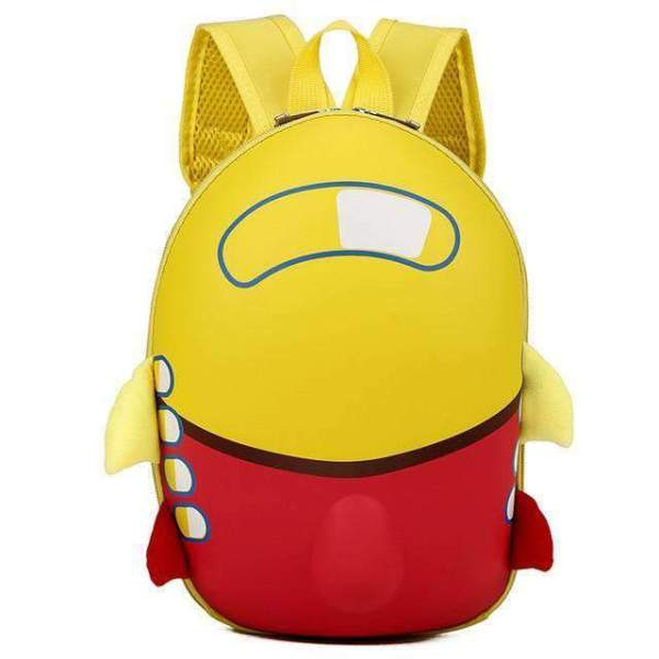 Cute Airplane Cartoon Eggshell Kids Backpack Backpack Yellow