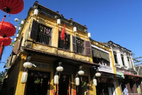 Hoi An – Altstadt-Haus geschmückt mit den typischen Lampions